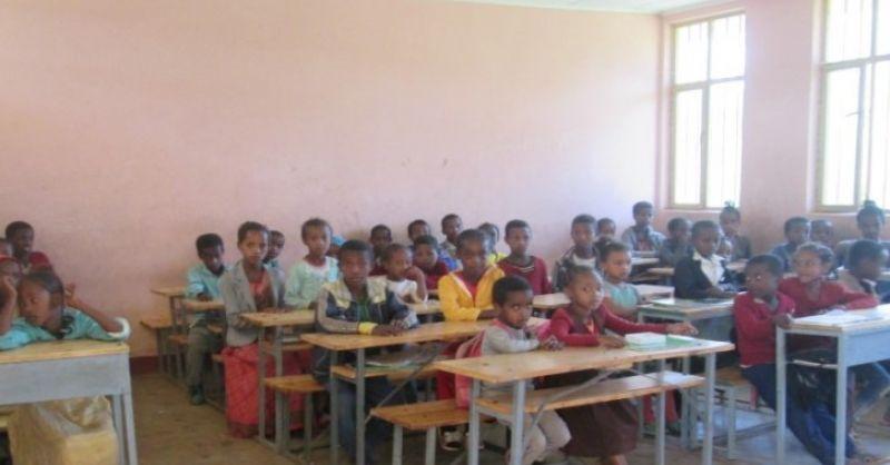 In de klas in Sebeta
