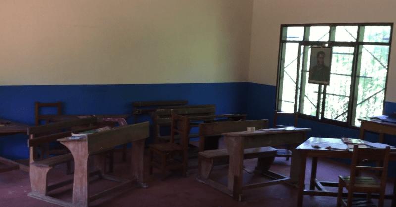 Het klaslokaal van de kinderen uit Bella Vista