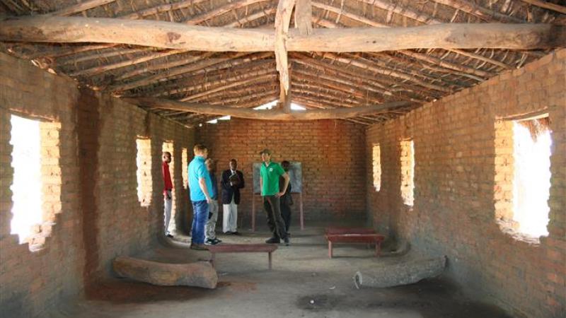 Huidige klaslokalen - binnenzijde