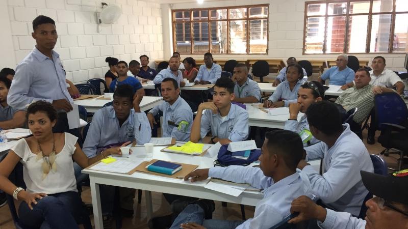 Een klas van de technische vakschool