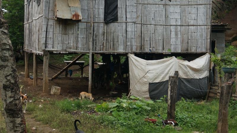 Huizen in het dorp van La Libertad
