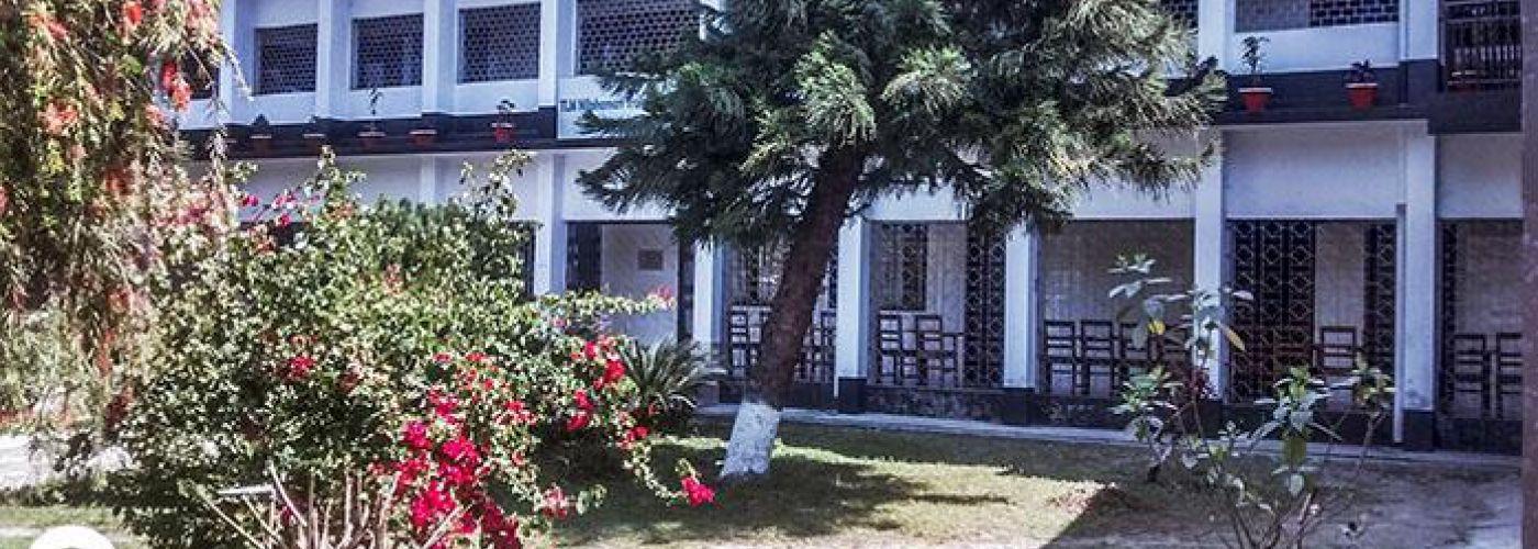 Voorzijde ziekenhuis van Leprosy Mission