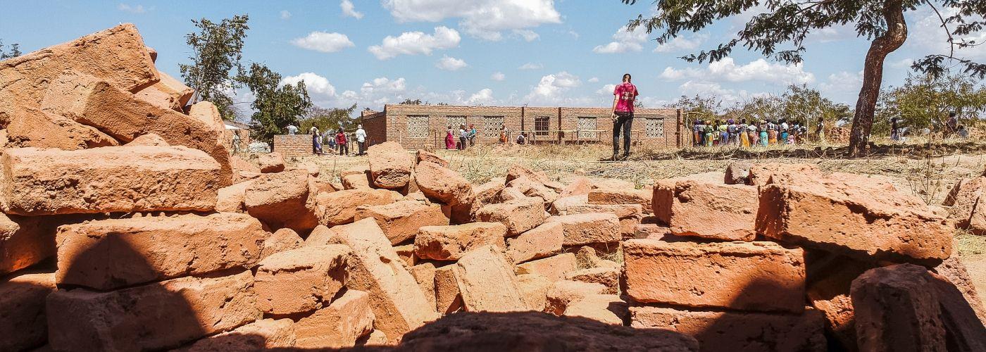 Bouwplaats Malawi