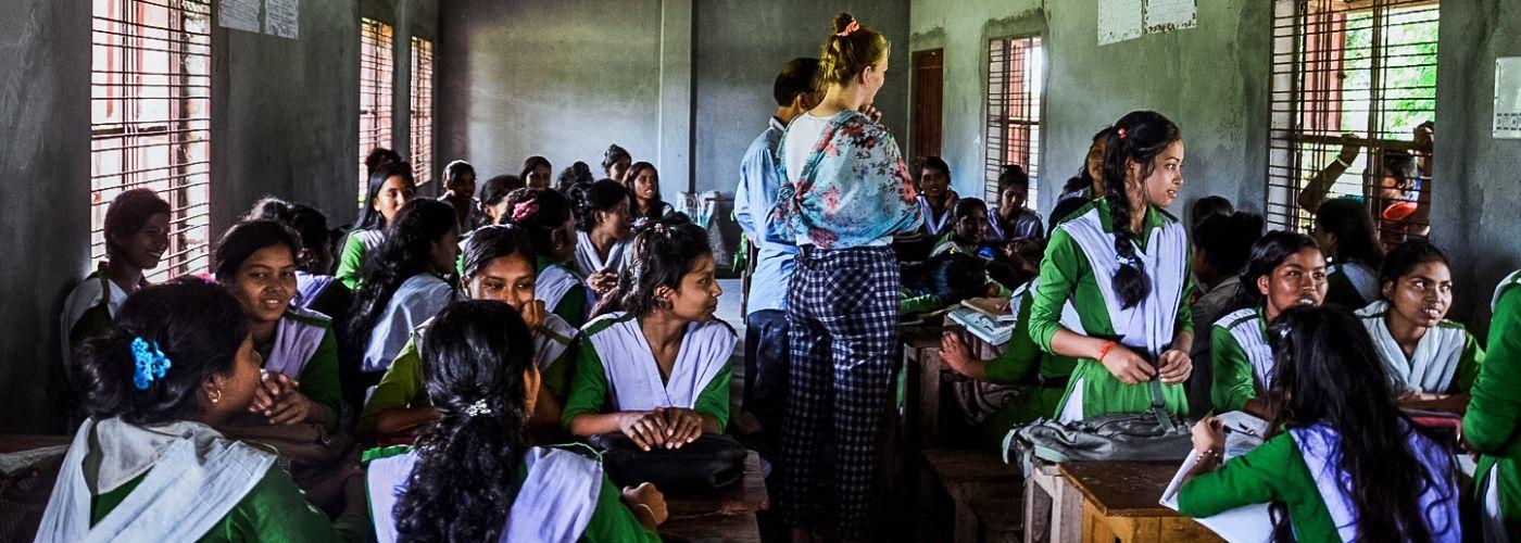 Een klaslokaal in Bangladesh