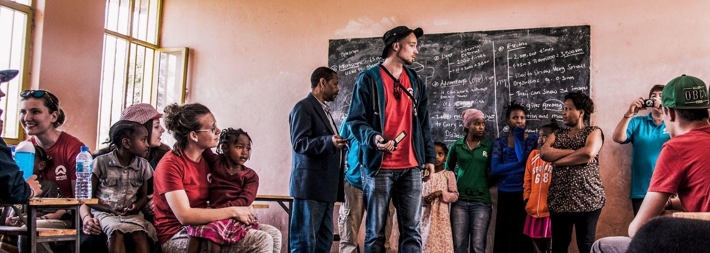 Gezelligheid in een klaslokaal