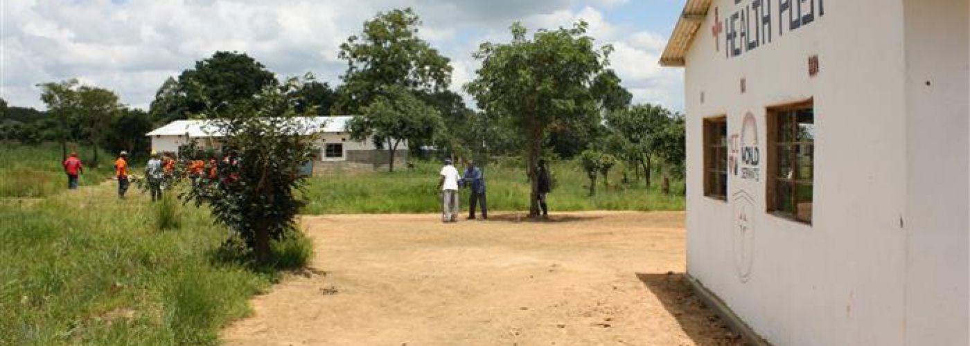 Terrein met kliniek en huis