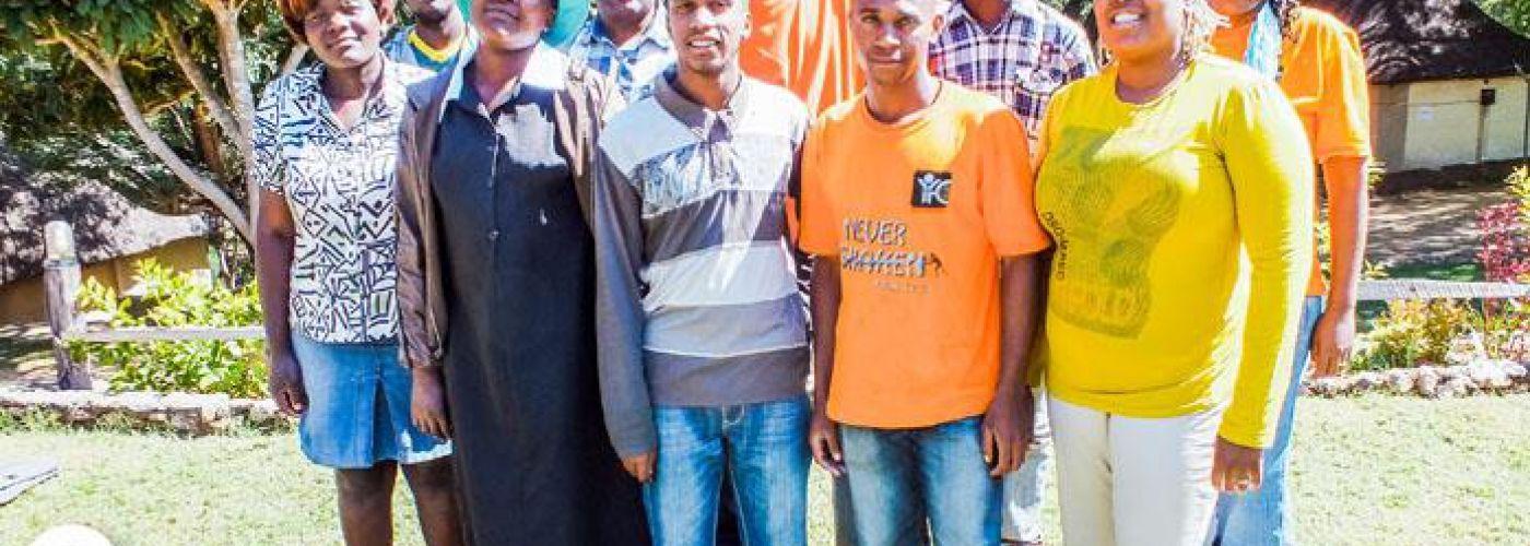 Het team in Zimbabwe van YfC aangevuld met YfC South Africa
