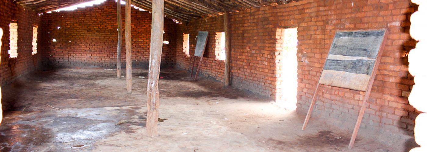 Twee klaslokalen zonder tussenwand