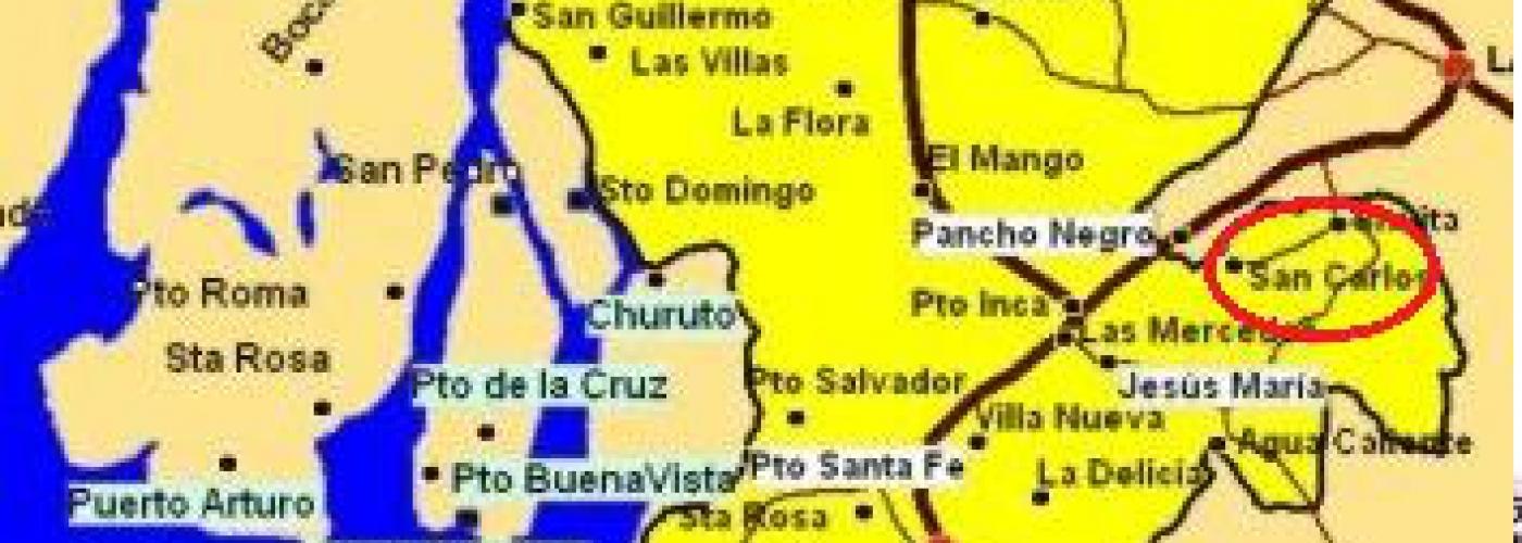 Aanduiding gemeente San Carlos