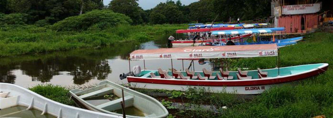 Bootje varen in Nicaragua