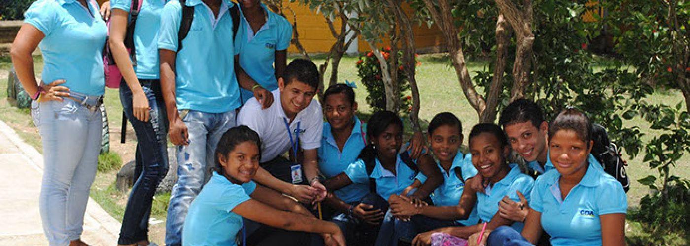Leerlingen van de school