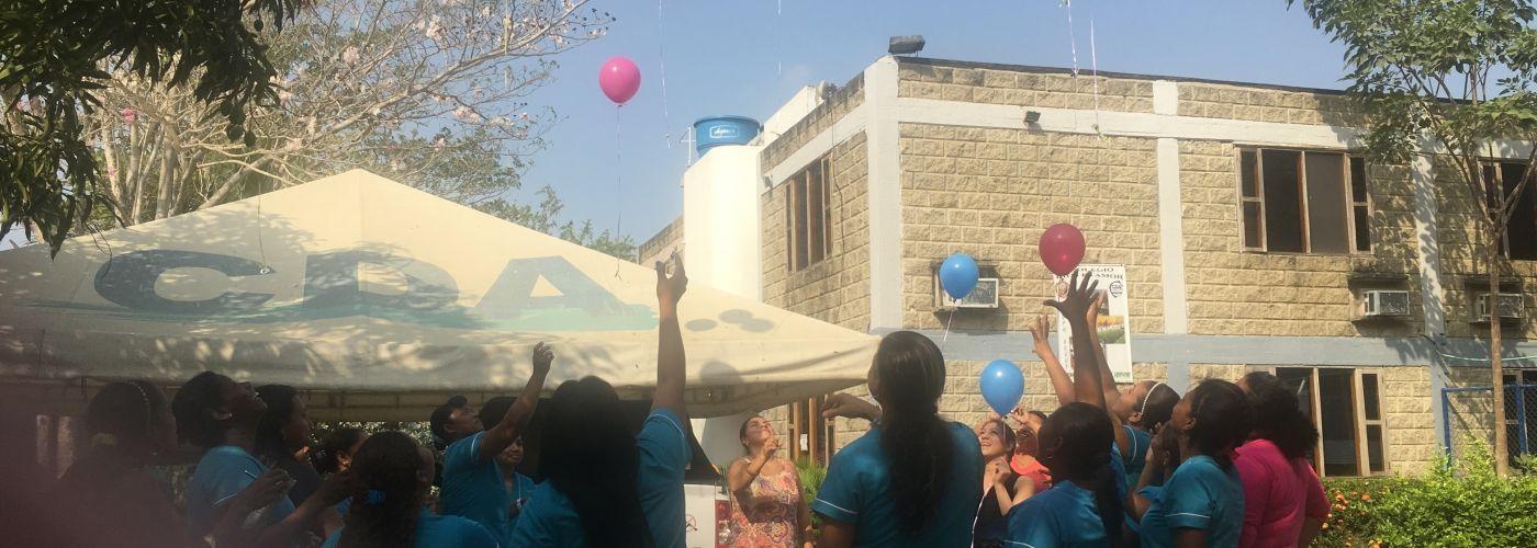 Geslaagde studenten vieren feest