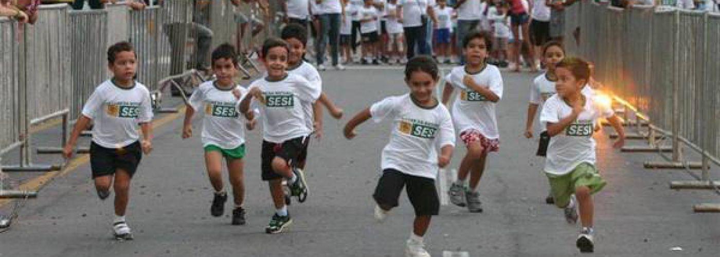 Hardloopwedstrijd in Prudente de Morais