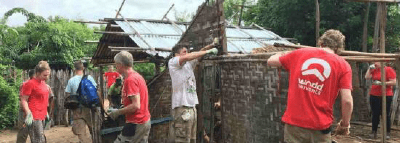 Rebuilding houses of people affected by leprosy
