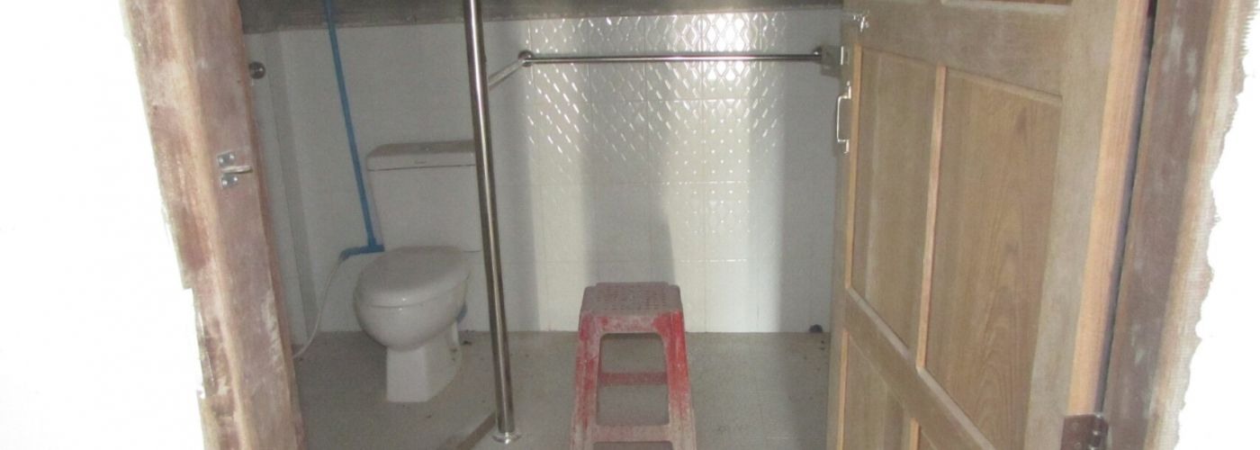 Ook de nieuwe toilet is bijna af