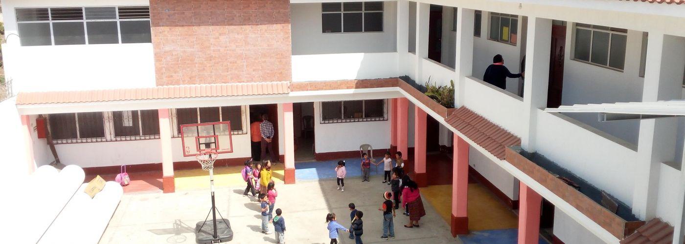 Speelkwartiertje op het schoolplein