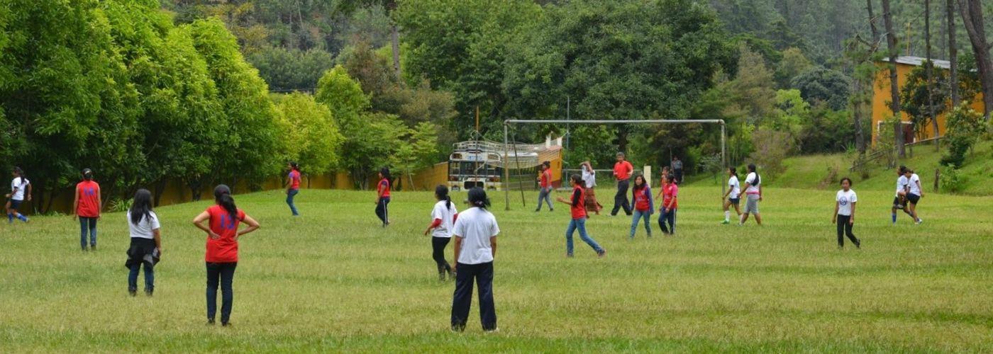 Een prachtig groen veldje voor een potje voetbal