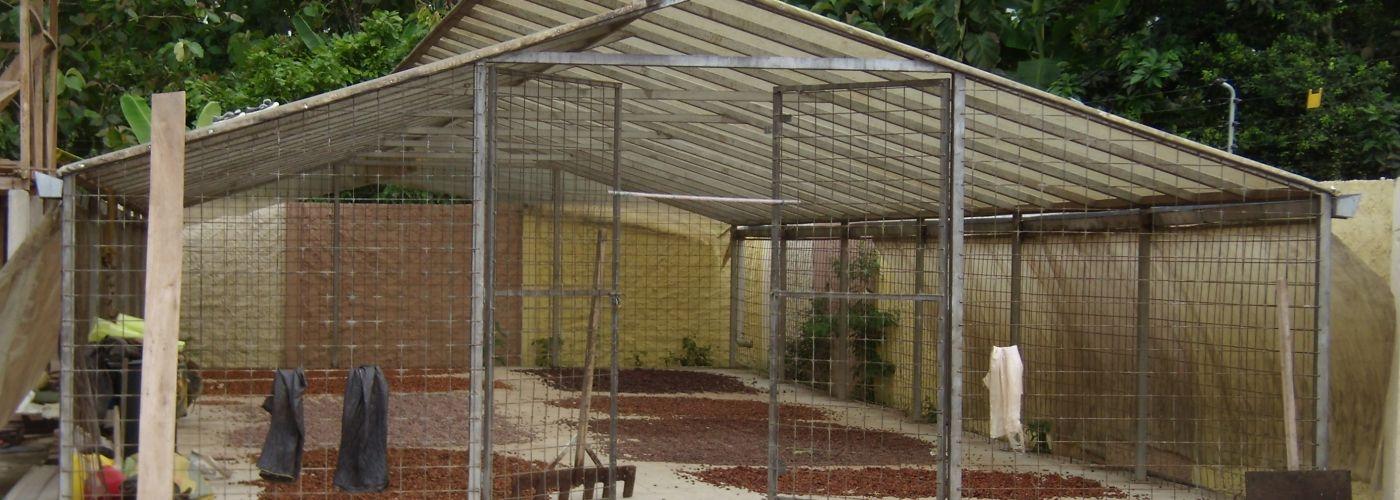 Voorbeeld van een overkapping voor een droogvloer