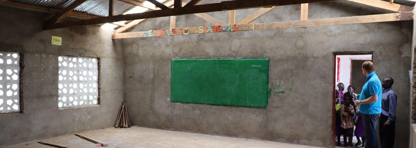 Een kijkje in het nieuwe klaslokaal
