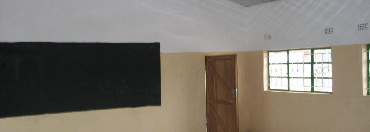 Eén van de twee nieuwe klaslokalen