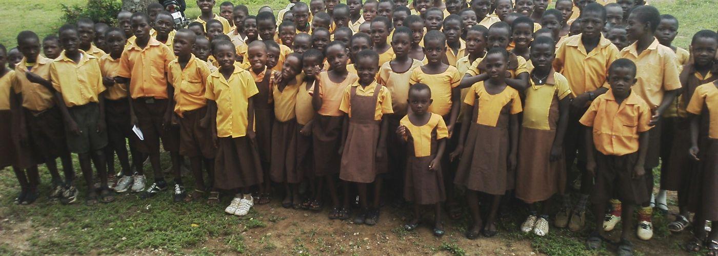 Kinderen van Bapelug Primary School