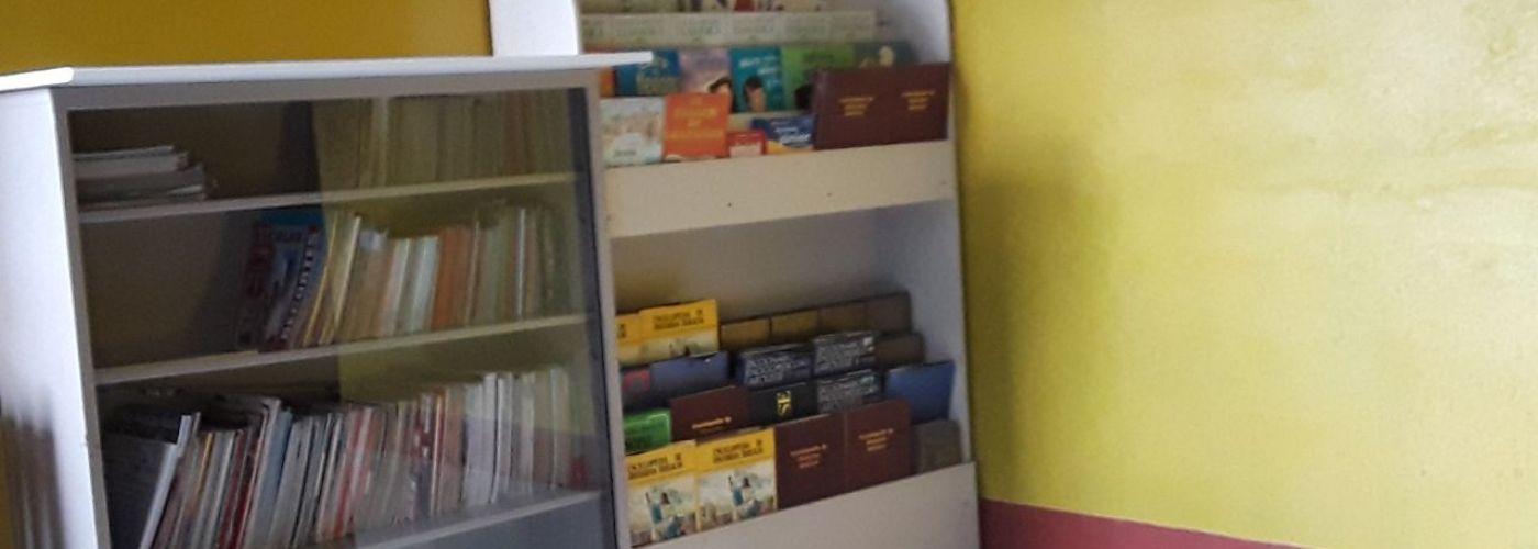 Materiaal voor in het nieuwe klaslokaal