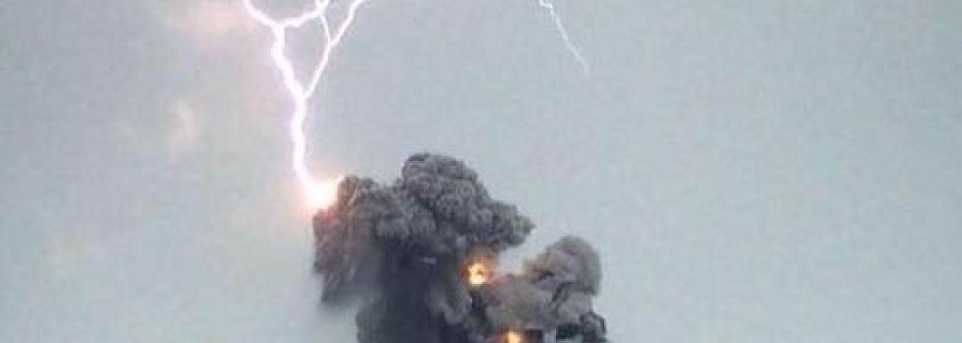 Uibarsting van vulkaan Fuego