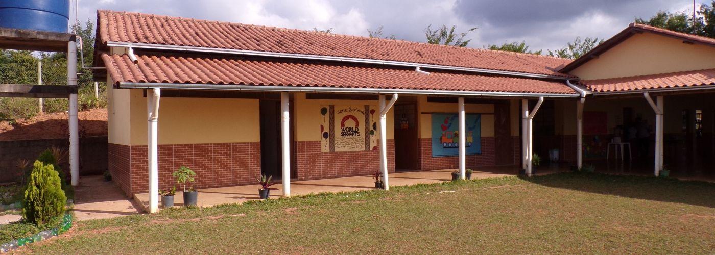 Het gemeenschapscentrum in Nova Pousada
