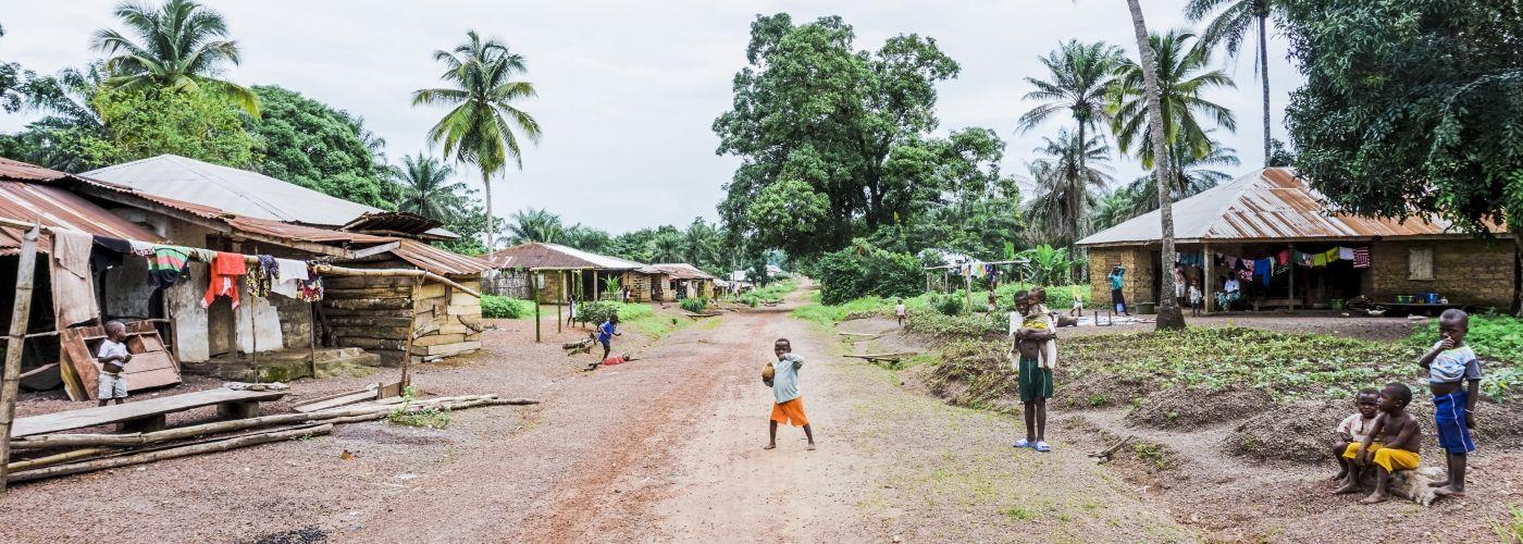 Een doorkijkje in het dorp