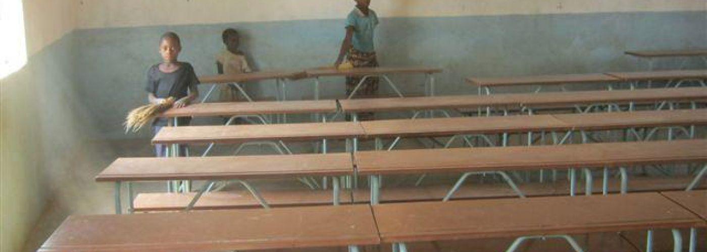 Klaslokaal in de bestaande school