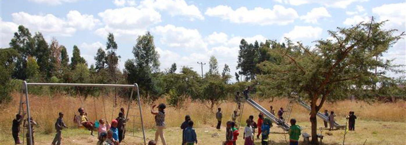 Speelplaats van de school