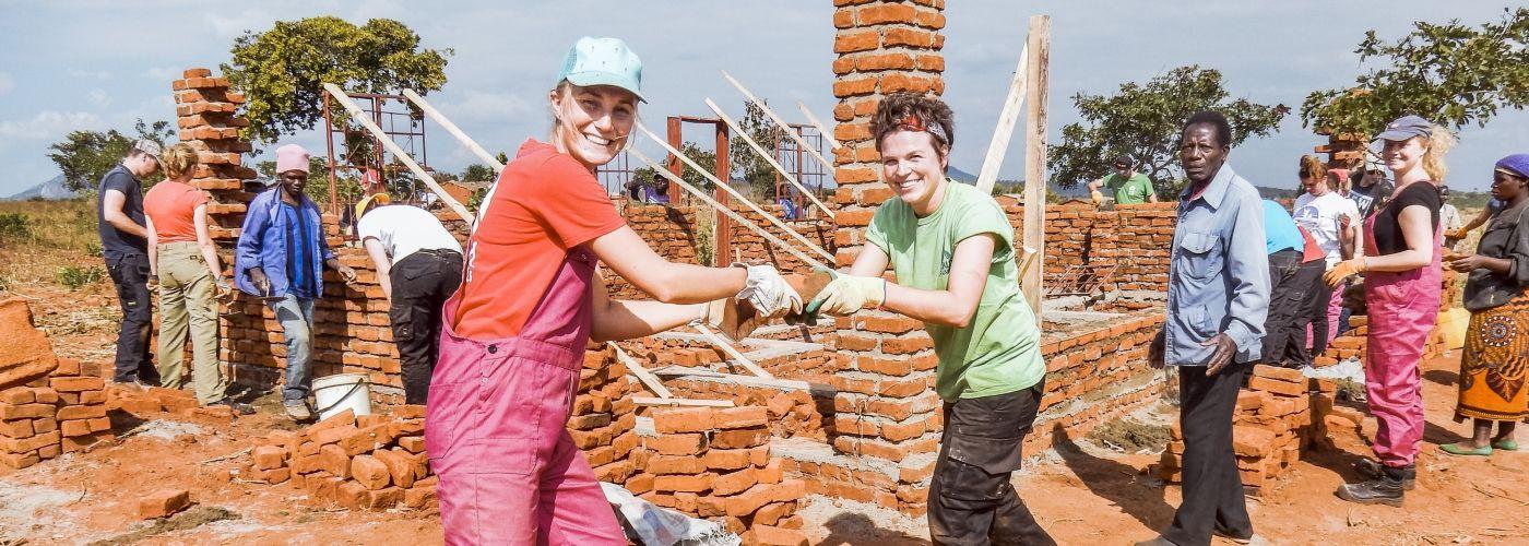Gezellig op de bouw