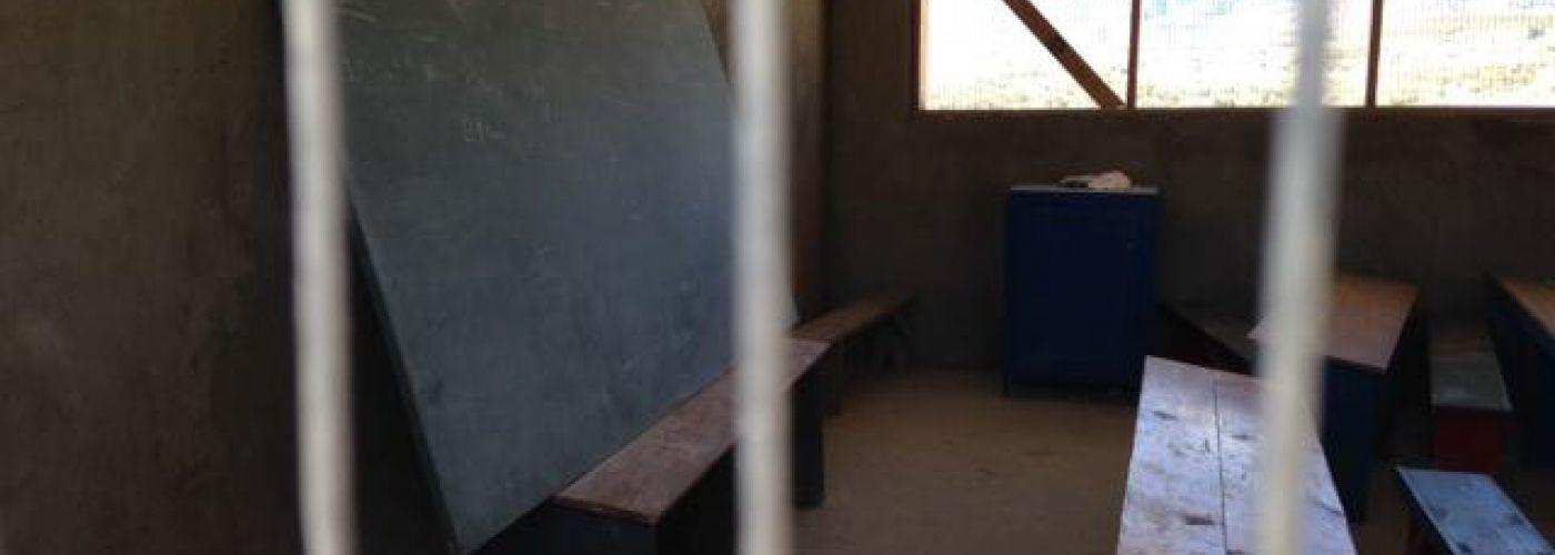 Nieuw klaslokaal met schoolbord
