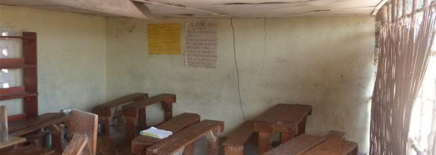 Binnenkant oude klaslokaal