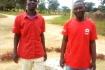 Obed (l) en Dennis (r) van partner organisatie MCC