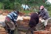 De bouw aan de woning is gestart